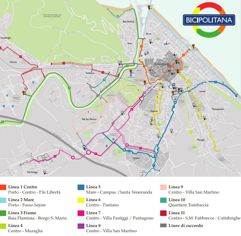 La metropolitana ciclabile di Pesaro