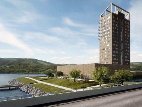 """Mjøsa Tower o """"Mjøstårnet"""": l'edificio in legno più alto al Mondo."""