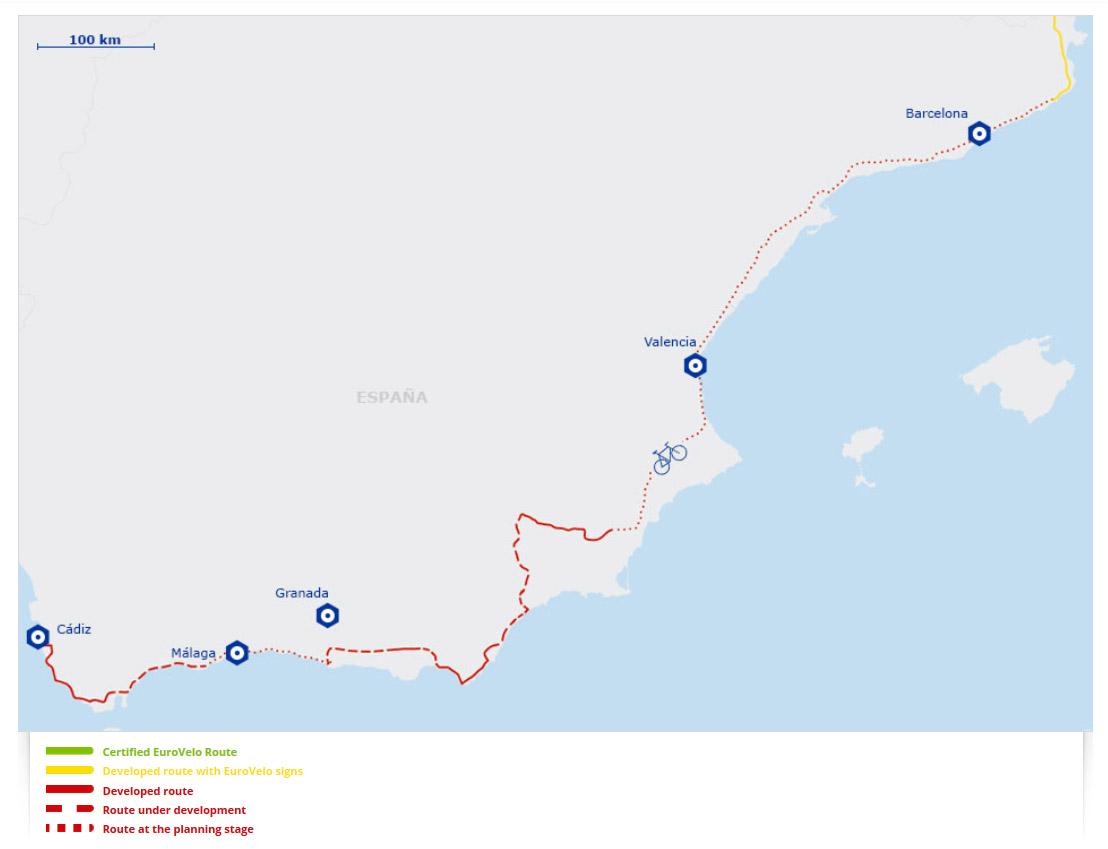Eurovelo 8 Spagna ciclabile