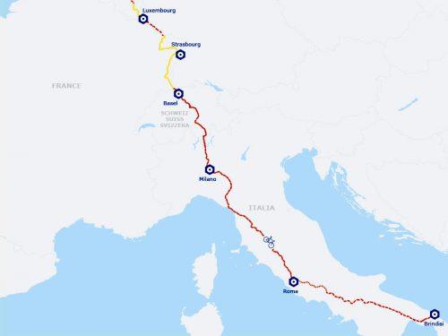 EuroVelo 5: la via Francigena (via Romea)