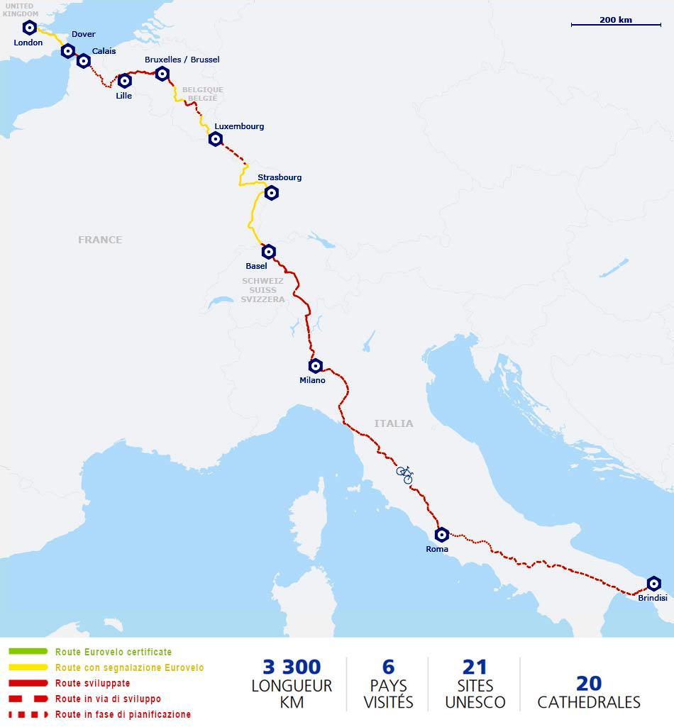 via Francigena ciclovia romea