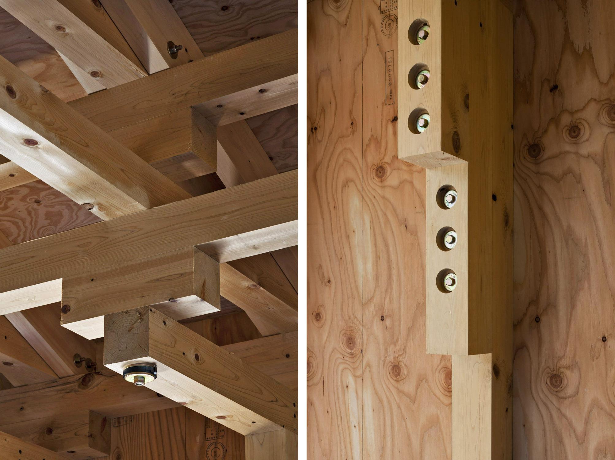 Boxing Club - FT Architects : dettagli della struttura portante
