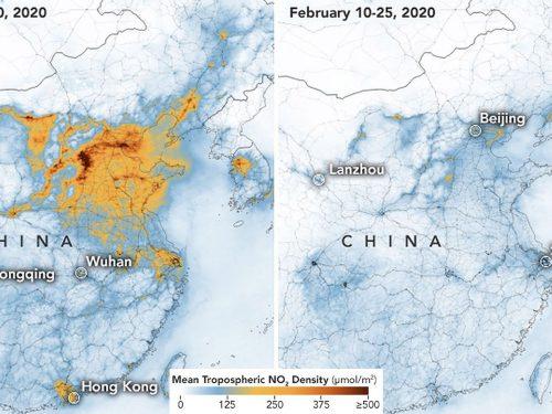 L'inquinamento in Cina precipita, merito dell'effetto Coronavirus
