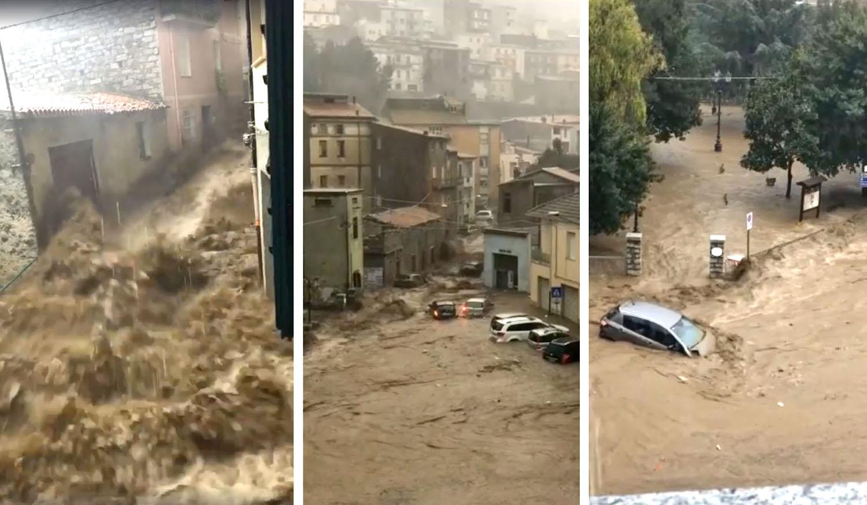 bomba d'acqua bubifragio cloudburnst sardegna